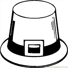 pilgrim hat coloring pages getcoloringpages