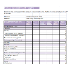 business case cost benefit analysis template cost benefit analysis