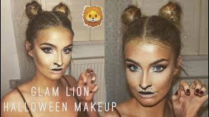 easy lion halloween makeup u0026 hair tutorial 2016 aoife conway