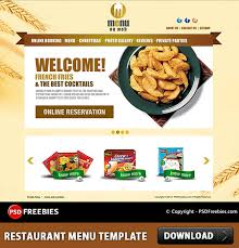 restaurant menu free psd template download download psd