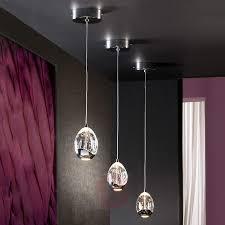 chrome led pendant lights modern led pendant light crystal with