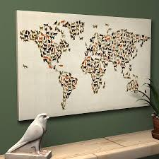 World Map Canvas Art by Cats World Map Art Print By Artpause Notonthehighstreet Com