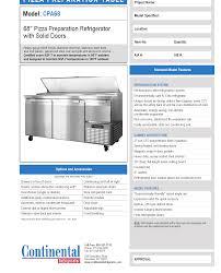 continental pizza prep table continental refrigerator cpa68 pizza prep table culinary depot