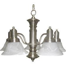 maxim lighting newburg 5 light satin nickel chandelier 20325mrsn
