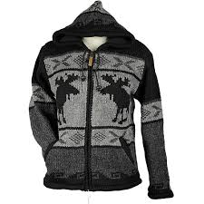 charcoal moose unisex wool sweater