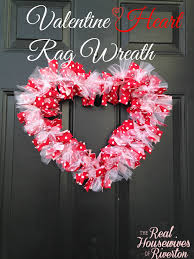 diy valentine heart rag wreath