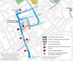 London Bus Map Proposed Bus Service Changes In The Tottenham Court Road Area