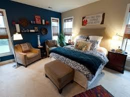 brown and blue bedroom color schemes cool barnside wood headboard