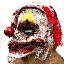 rob zombie halloween clown mask stitched burlap clown mask 355796 trendyhalloween com