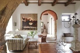 Italian Living Room Decor With Romanesque Features Romanesque - Italian inspired living room design ideas