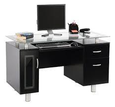 Black Desk Office Realspace Sutton Executive Desk Black By Office Depot Officemax