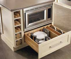 Microwave In Kitchen Island Universal Design Kitchen Great Cabinet For Accessing Dishes And