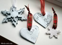 clay ornaments made with cookie cutters and sts teodoro