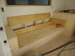 built in couch with storage but would build this into a corner