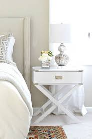 white x based campaign nightstand transitional bedroom behr