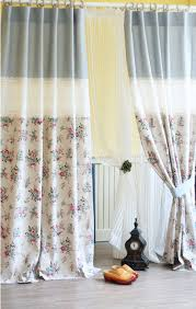 Shabby Chic Curtains Cottage Shabby Floral Linen Curtains Cottage Chic Curtains