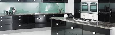 cabinets storages luxury black modern glossy glass kitchen care