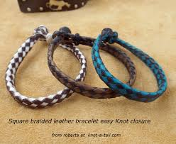 make leather woven bracelet images Bracelets leather knot a JPG