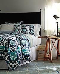 Navy Blue Coverlet Queen Love This Turquoise And Navy Blue Patterned Bedding From