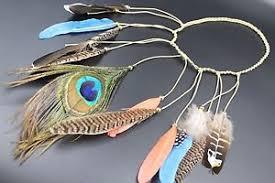 tribal peacock feather headband indian hair