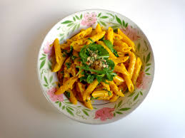 cuisine au safran penne with saffron arugula and walnuts the everyday chef
