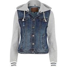 jean sweater jacket hooded jean jackets jackets