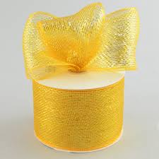 deco mesh ribbon 4 poly deco mesh ribbon metallic gold rs200553 craftoutlet