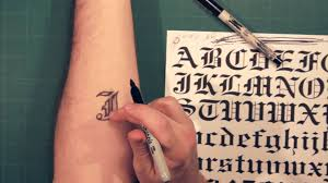 Lettering Arm - sharpie lettering and fonts how to