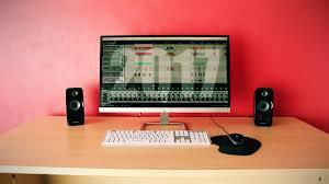 minimalist desk setup home recording studio youtube