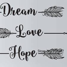 believe home decor diy vinyl bedroom decoration decals dream love hope believe arrow