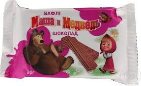 waffles masha medved llc 80g packaged ukraine snacks sweets