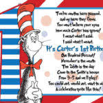 how to make dr seuss birthday party invitations ideas