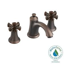 Bathroom Vanity Faucets by Delta Windemere 8 In Widespread 2 Handle Bathroom Faucet With