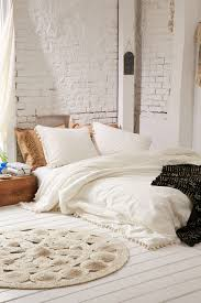Urban Outfitters Ruffle Duvet Magical Thinking Pom Fringe Duvet Cover Magical Thinking Duvet