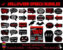halloween photo booth props printable pdf printable halloween speech bubbles halloween photo booth sign