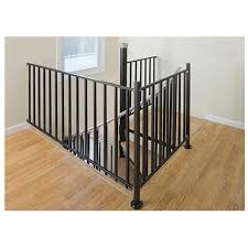 shop the iron shop houston 3 ft black painted wrought iron stair