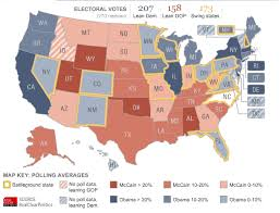 Map Favors by Chart Of The Day Electoral Map Favors Obama