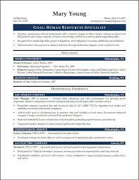 hr generalist resume objective examples