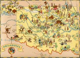 Map Of Tulsa Oklahoma Map Original 9 X 13 Vintage 1930s Antique Picture Map
