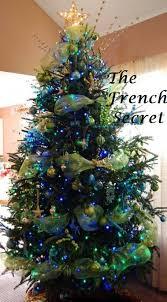 christmas peacock lime green tulle ribbon tree garland