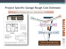 building costs how to estimate garage building costs