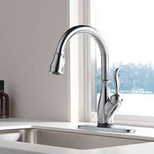 leland kitchen faucet shop delta leland touch2o arctic stainless 1 handle deck mount
