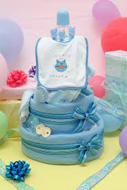 baby shower decorations diaper cakes