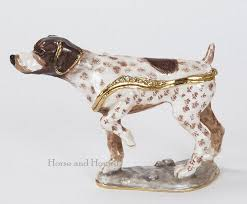german shorthaired pointer figurine box figurines gifts