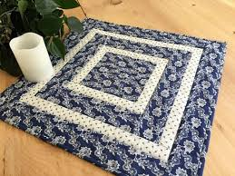 quilted square table toppers quilted square table topper or wall hanging handmade with a blue