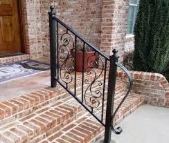 iron handrails stair rails