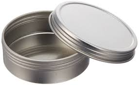 amazon com paper mart 6518200p top round steel tins 2