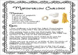 Challenge Directions A Learning Affair The Leaning Tower Of Marshmallow Great