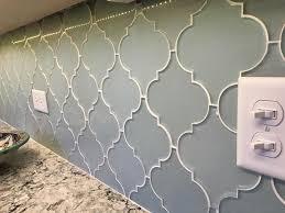 Arabesque Backsplash Tile by Jasper Blue Gray Arabesque Glass Mosaic Tiles U2013 Rocky Point Tile
