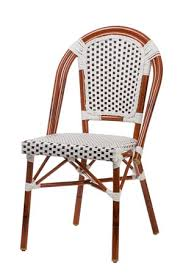 aluminum bamboo look bistro chair stackable chairs chairs